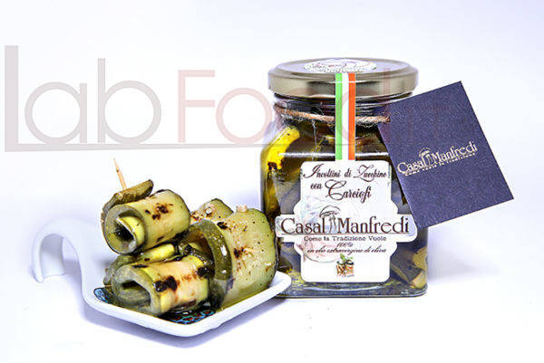 CASALMANFREDI INVOLTINI DI ZUCCHINE E CARCIOFI   GR 314 ORIGINE PUGLIA