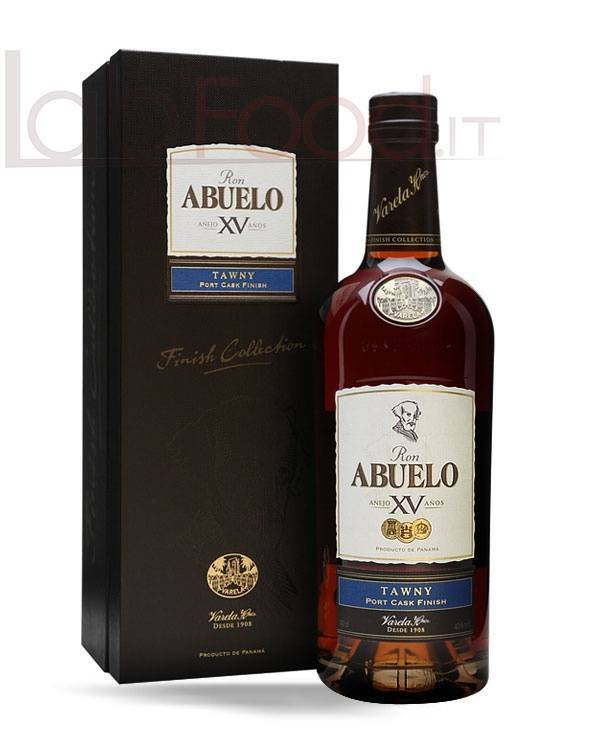 ABUELO RON FINISH TAWNY XV ANOS CL 70 ALC. VOL. 40