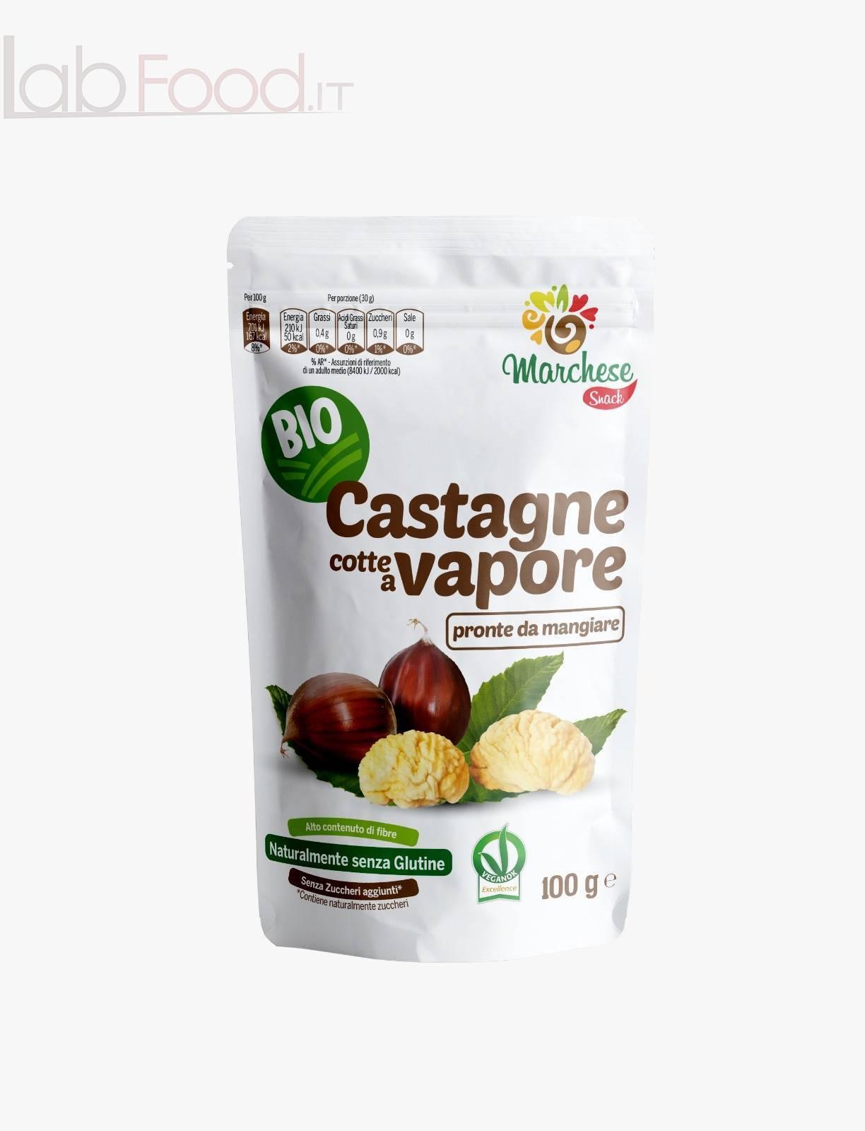 CASTAGNE COTTE AL VAPORE BIO GR 100 MARCHESE